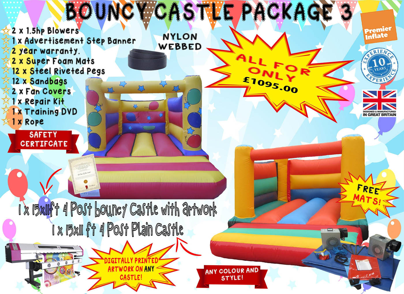 Super Bouncy Castle Package Deal, Bouncy Castle Sales