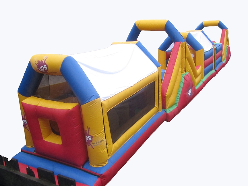 Large Inflatable Obstacle Course with branding