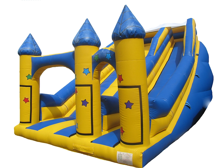 Commercial inflatable Bouncy Slide with Stars and Velcro