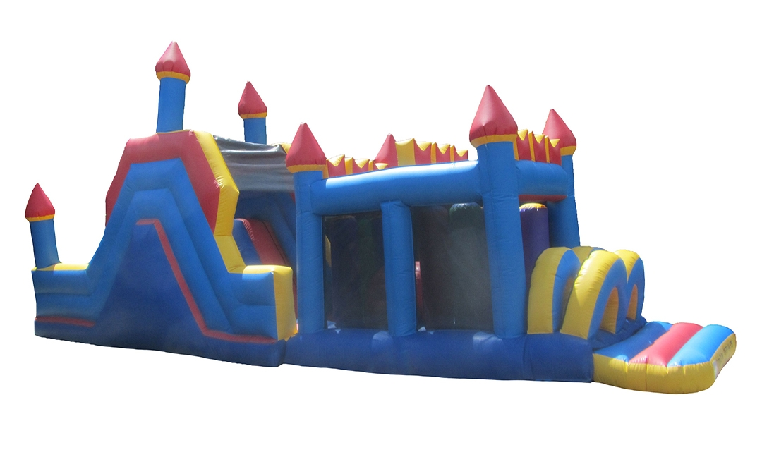 Turret Top Unisex Commercial Bouncy Obstacle Course