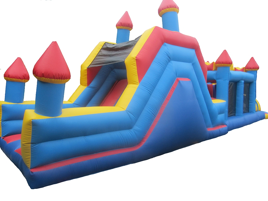 Bouncy Obstacle Course with Unisex Colours