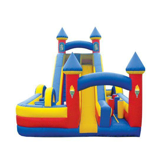 Inflatable Bouncy Slide with Obstacles