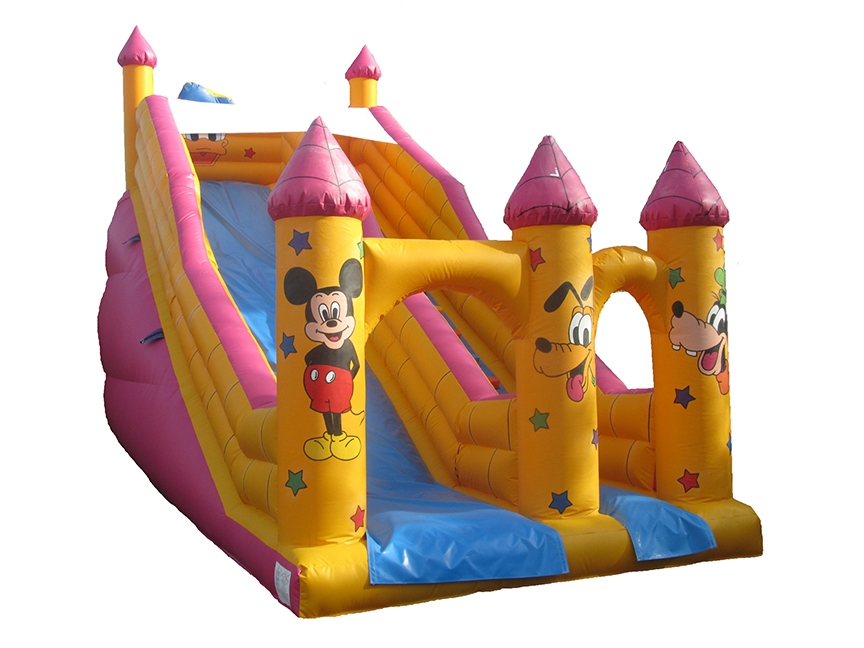 Commercial Bouncy Slide with Character Themed Artwork