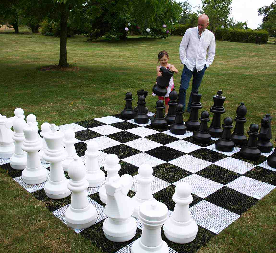 Giant Chess and Draughts with Board