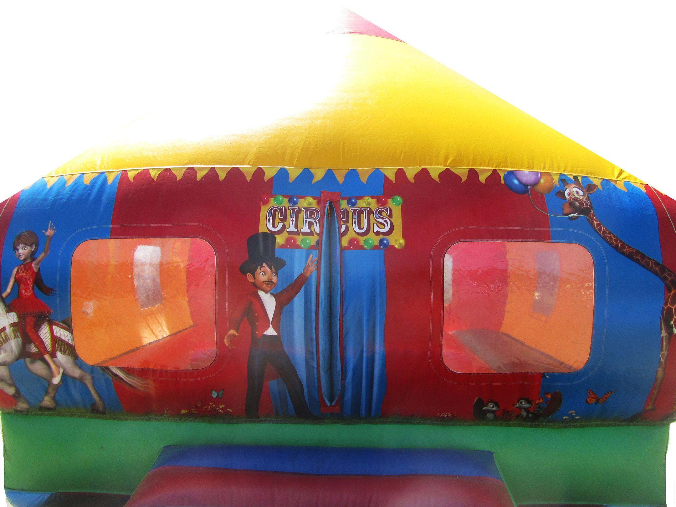 Circus Themed Moonwalk Bouncer