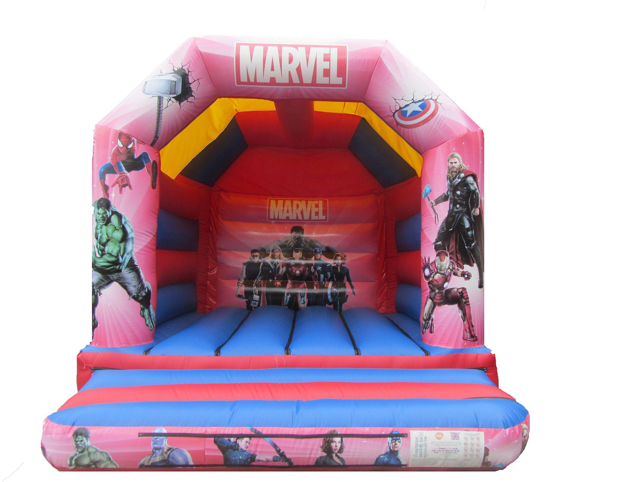 Superhero Themed Bouncy Castle Suitable for Adults and Children