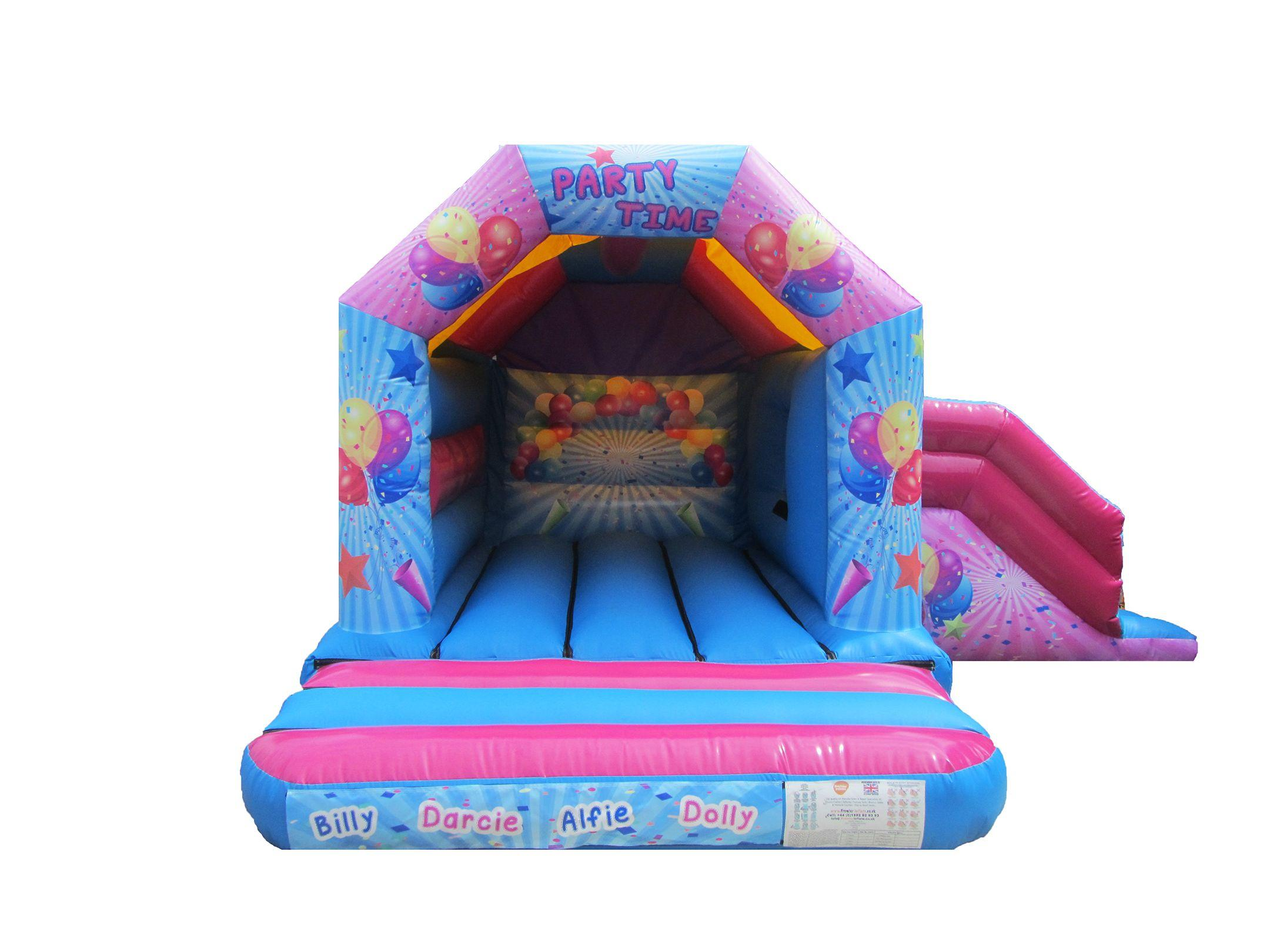 Party Themed Combi Bouncy Castle