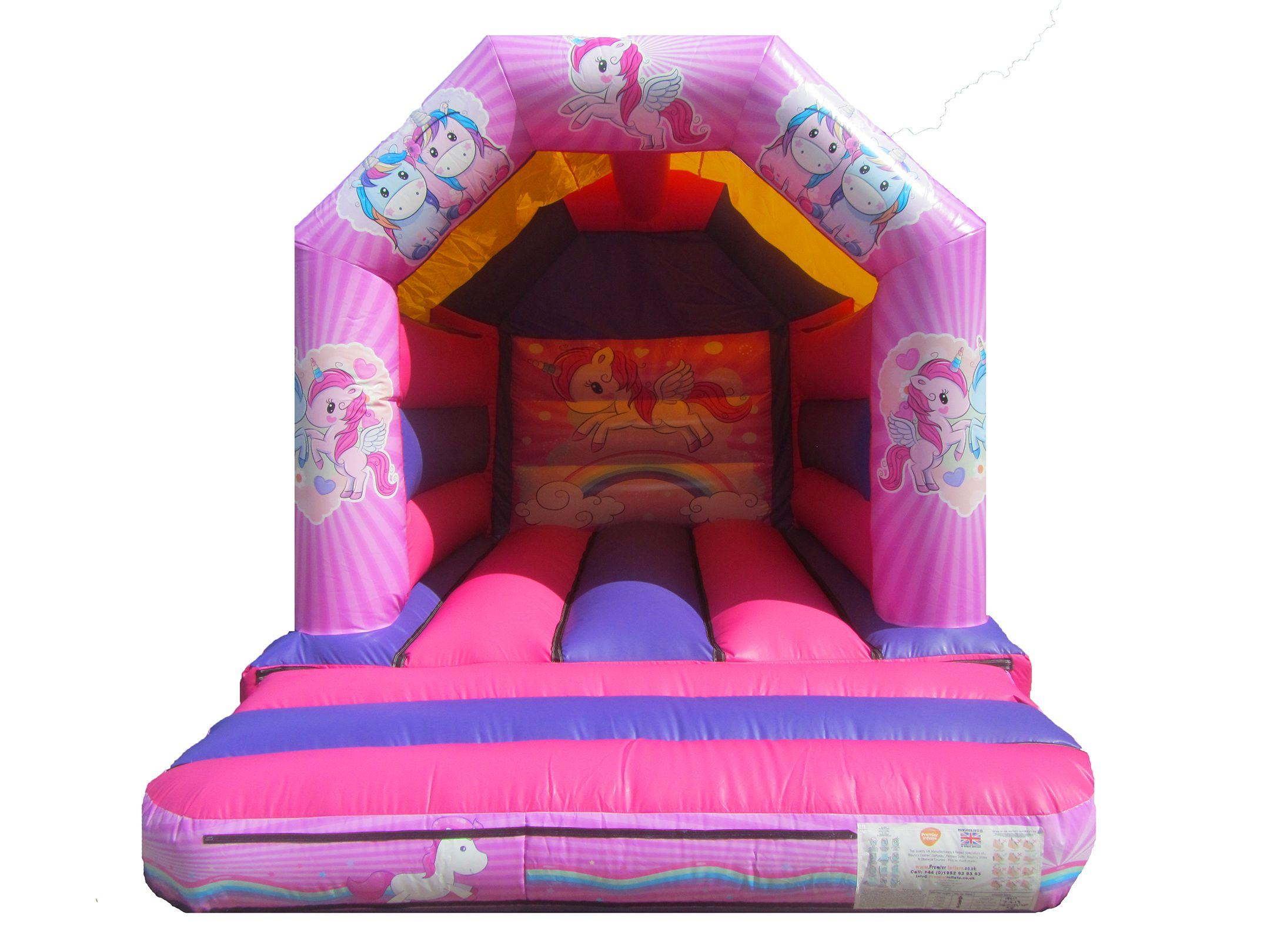 Commercial Unicorn themed Bouncy Castle