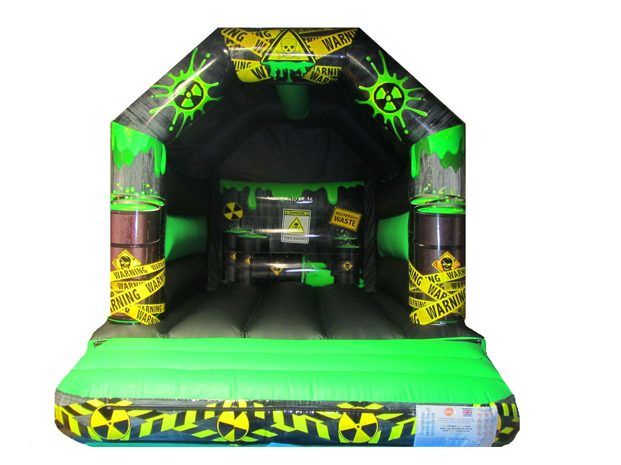 Heavy Duty Toxic Themed Childrens Bouncy Castle