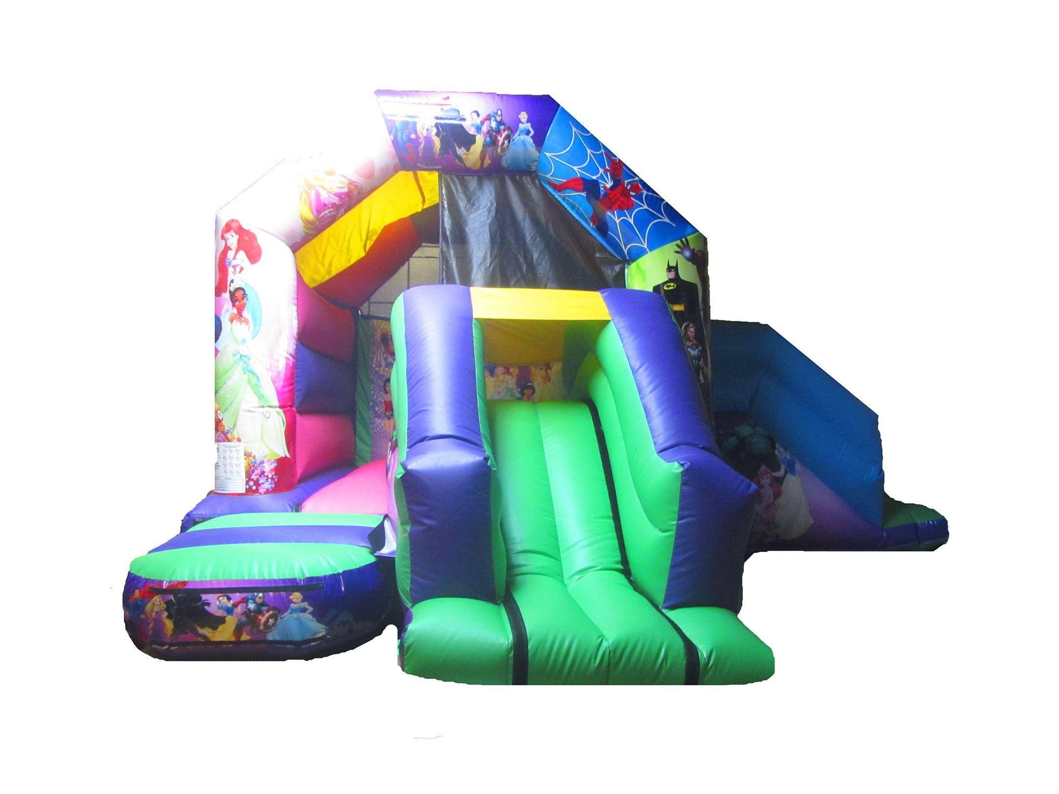 Childrens Commercial Double Combi Bouncy Castle