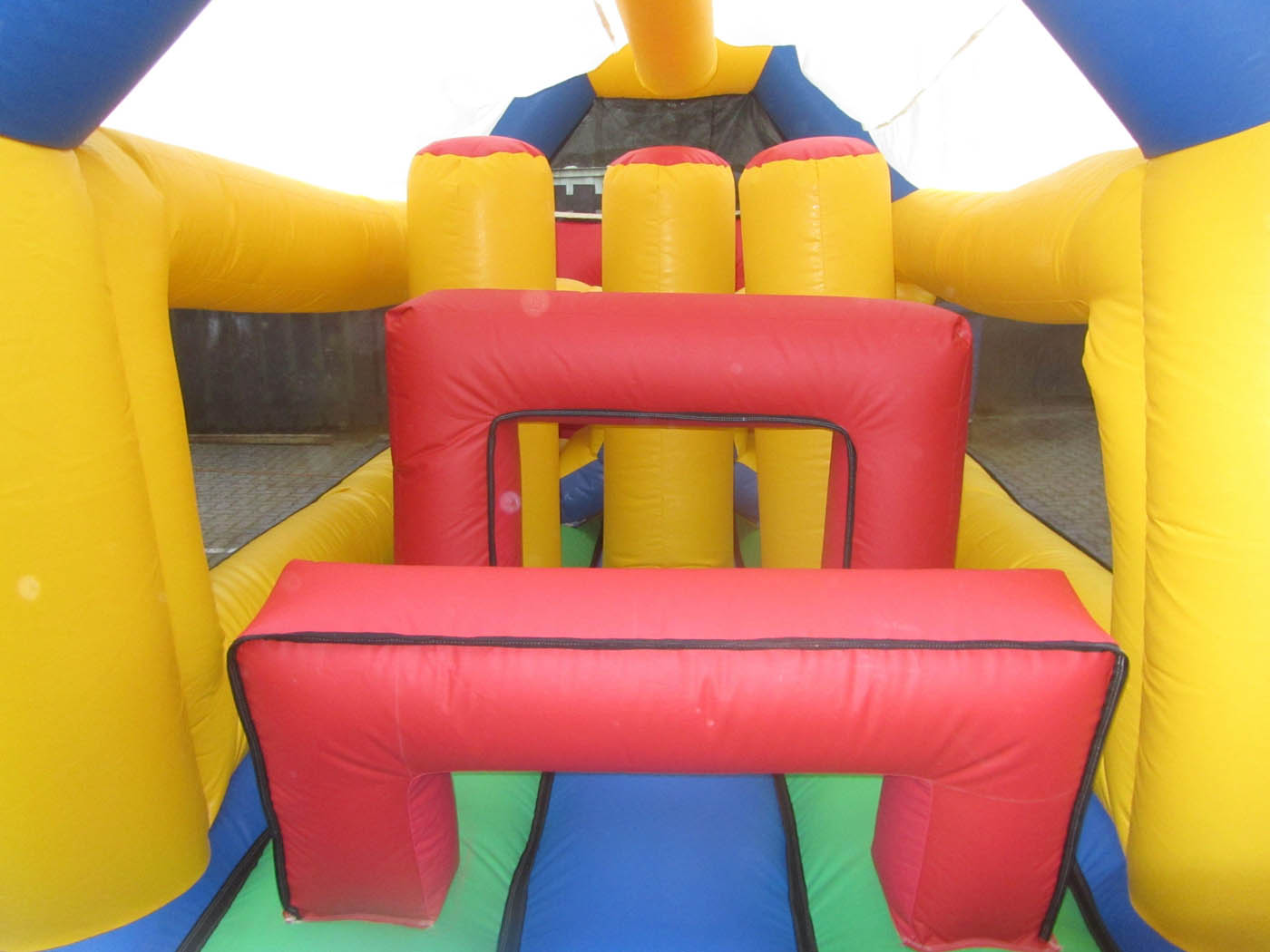Inside A Bouncy Obstacle Course