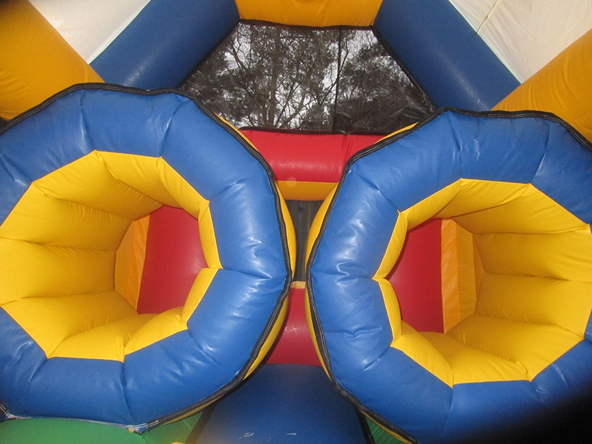 Bouncy Obstacle Course Tunnels