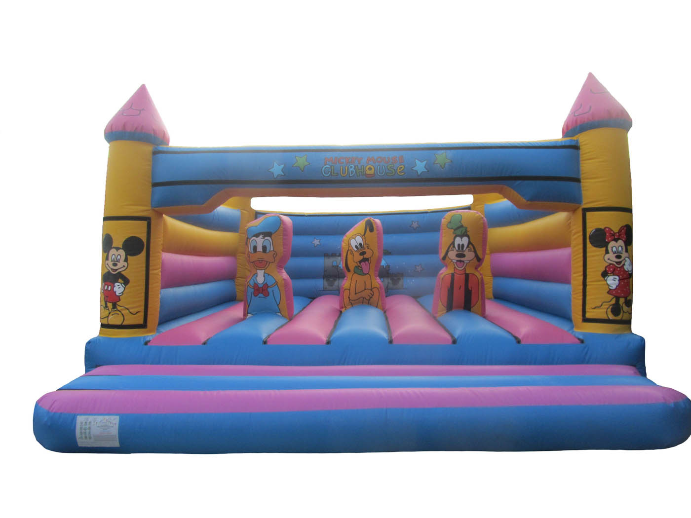 Adults Character Turret Top Bouncy Castle
