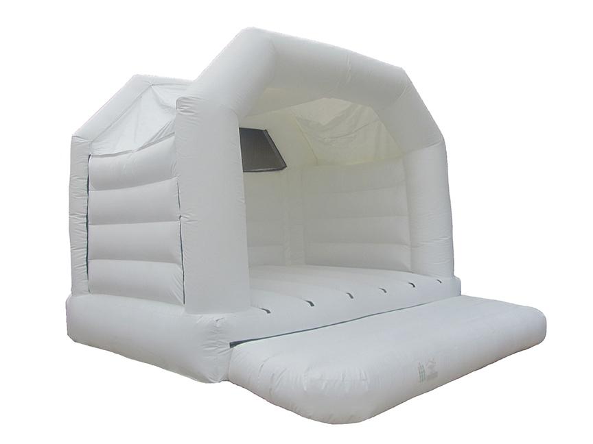 Plain White Wedding Bouncy Castle