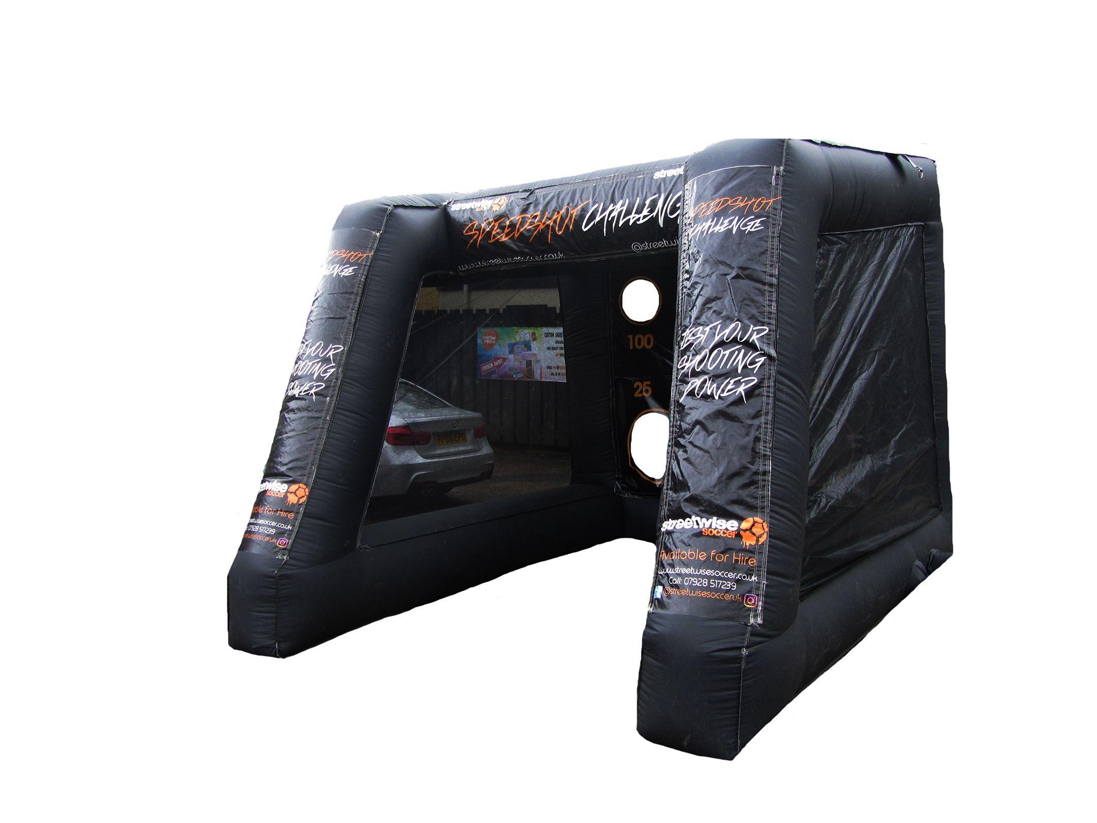 Black pen shootout inflatable printed game activity compressor