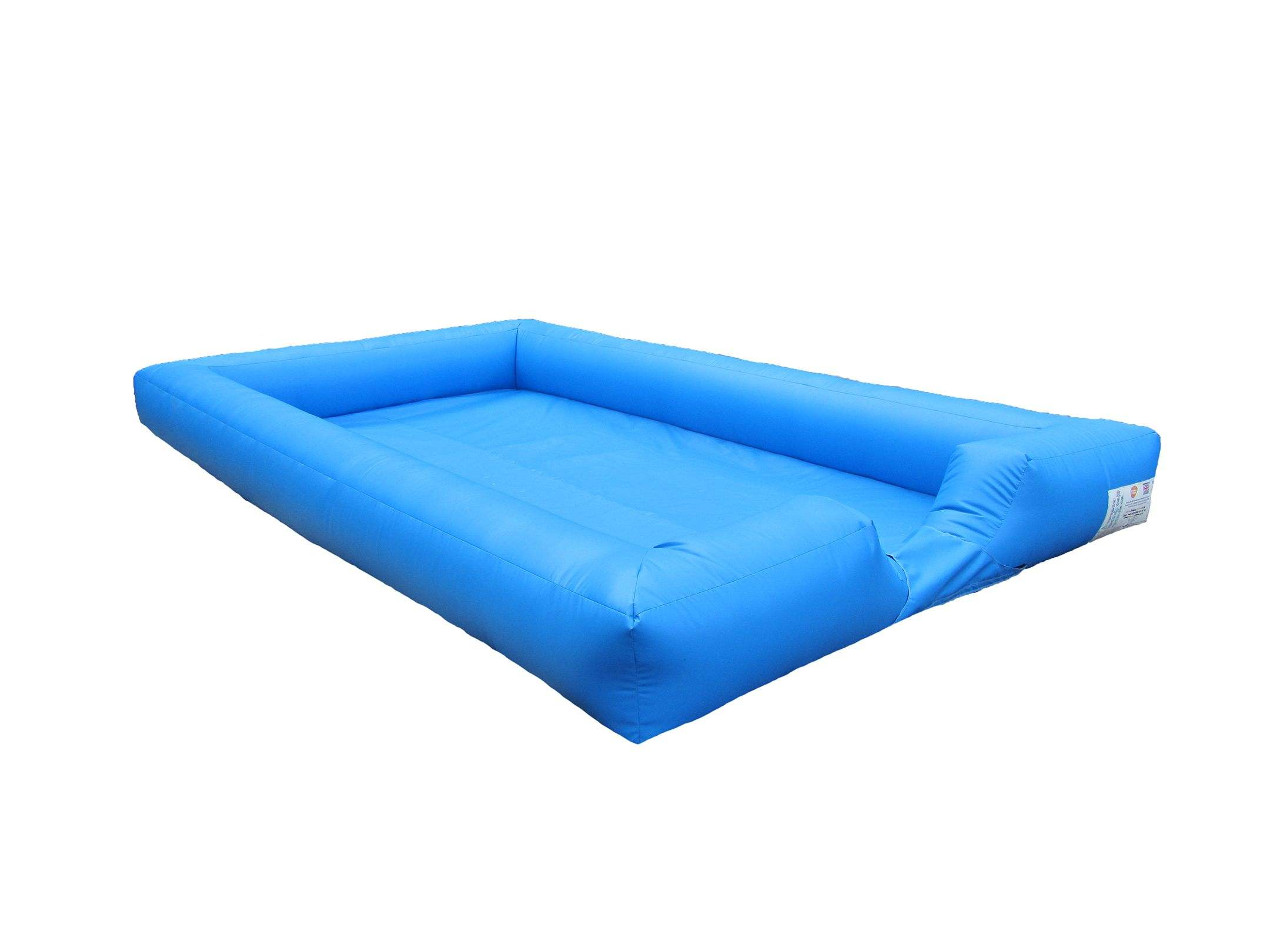 Blue plain inflatable ball pond 3 compressor