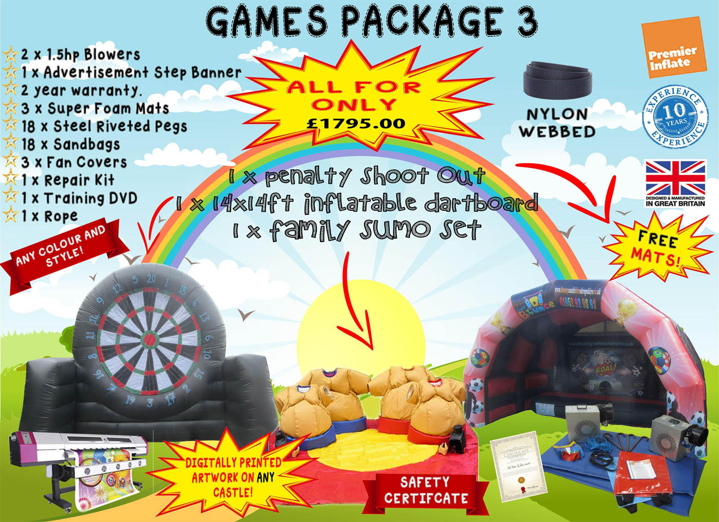 Commercial Bouncy Castle Package Deals for Sale UK