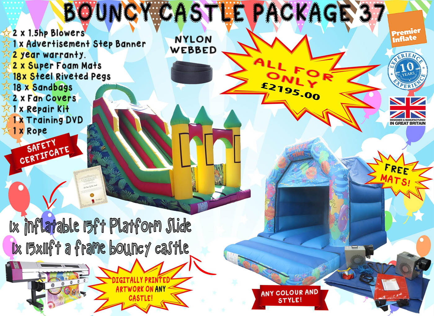 UK Bouncy Castle Package Deals for Sale