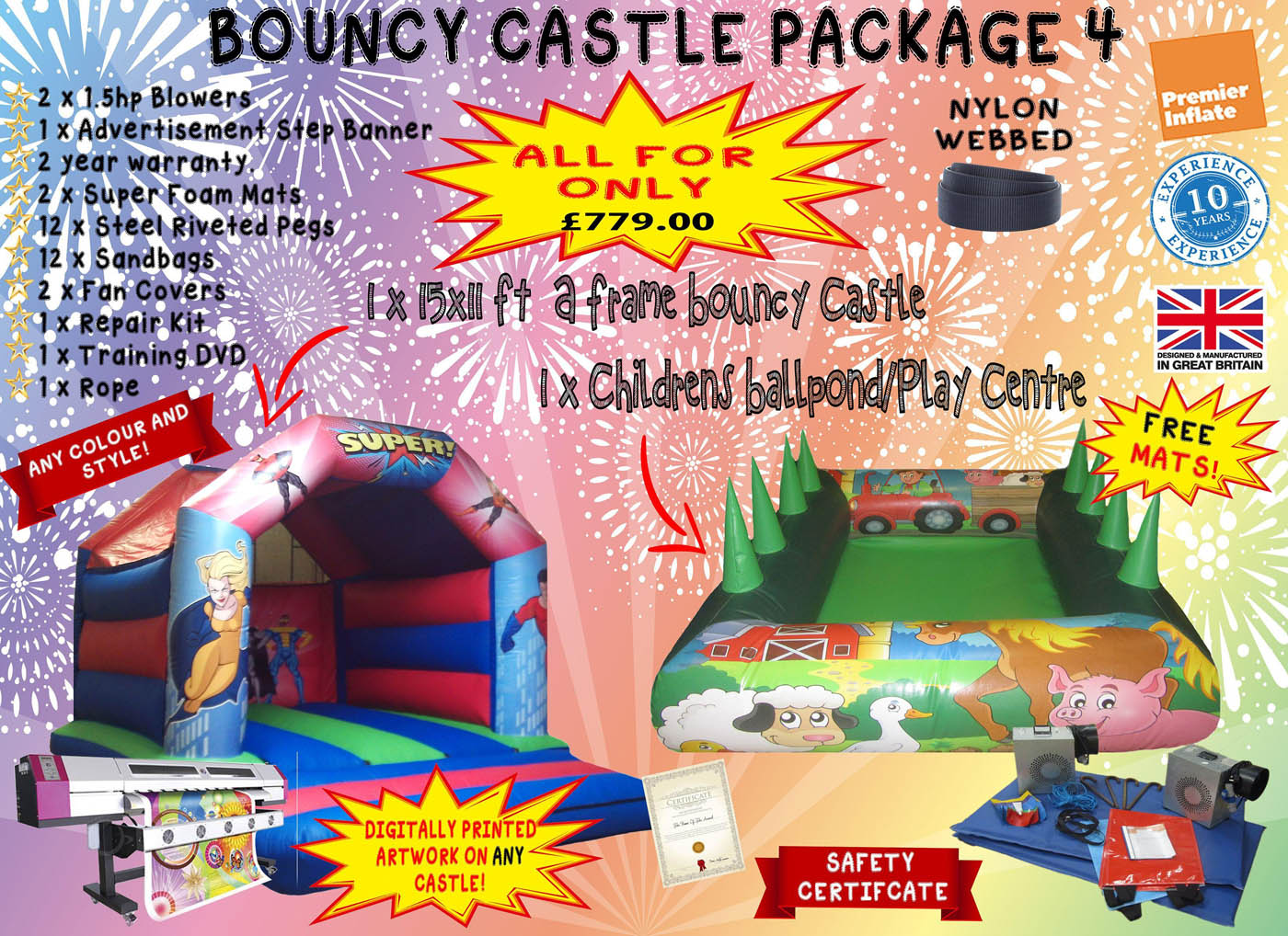 Bouncy Castle Package Deals for Sale UK