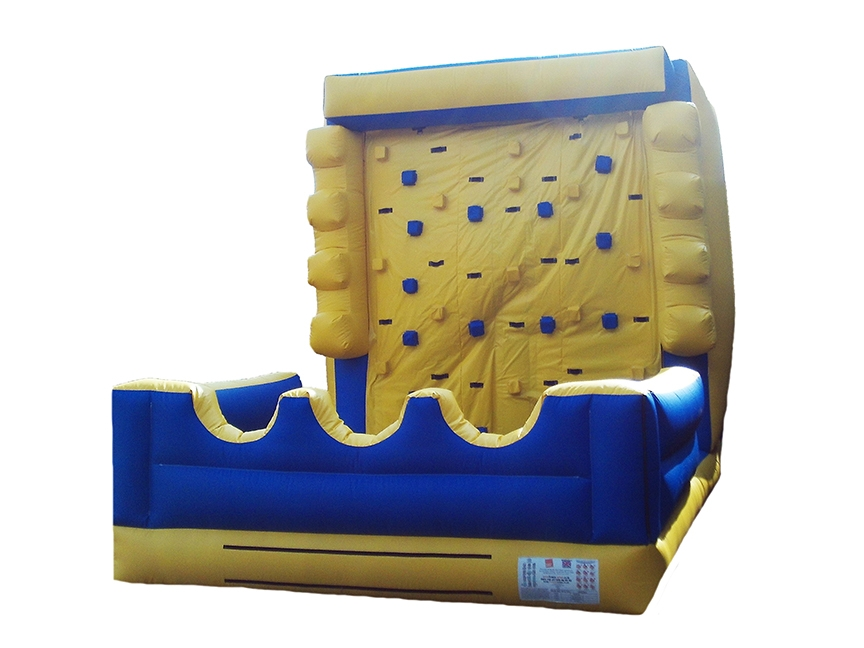 Blue & Yellow Inflatable Climb Wall