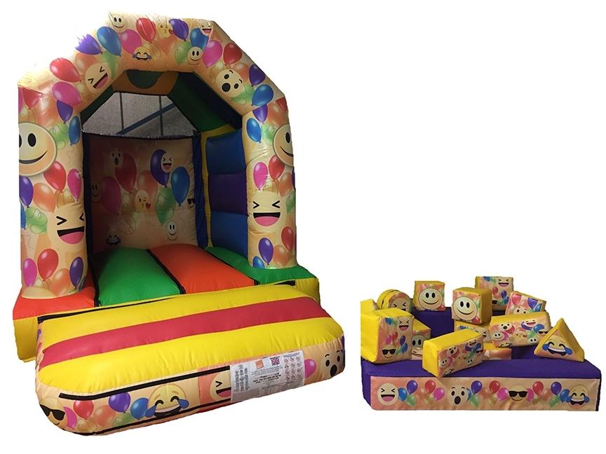 Emoji Themed Toddler Bouncer & Soft Play Set