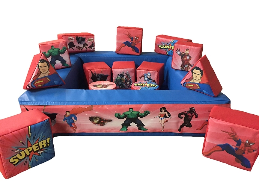 Superhero Soft Play Set with Ball Pond