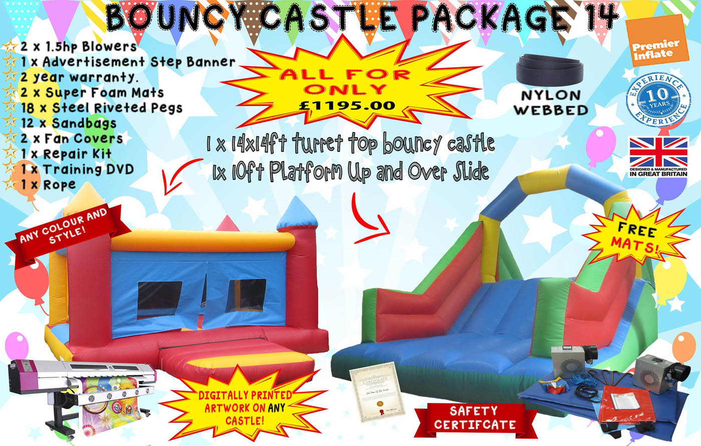 Inflatable-bouncy-castle-deal-package-14-compressor