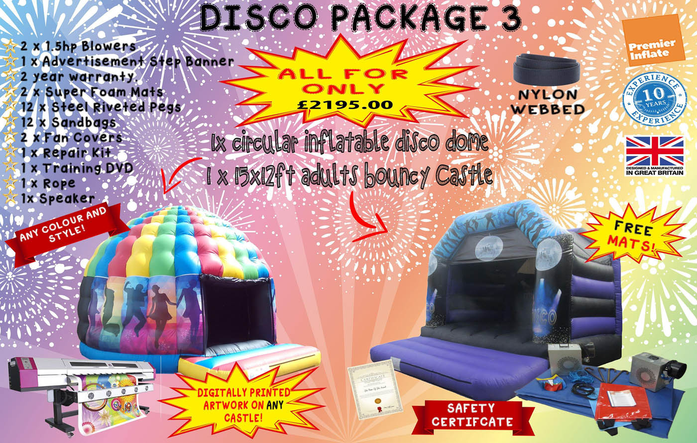 Inflatable-bouncy-castle-disco-package-3-compressor