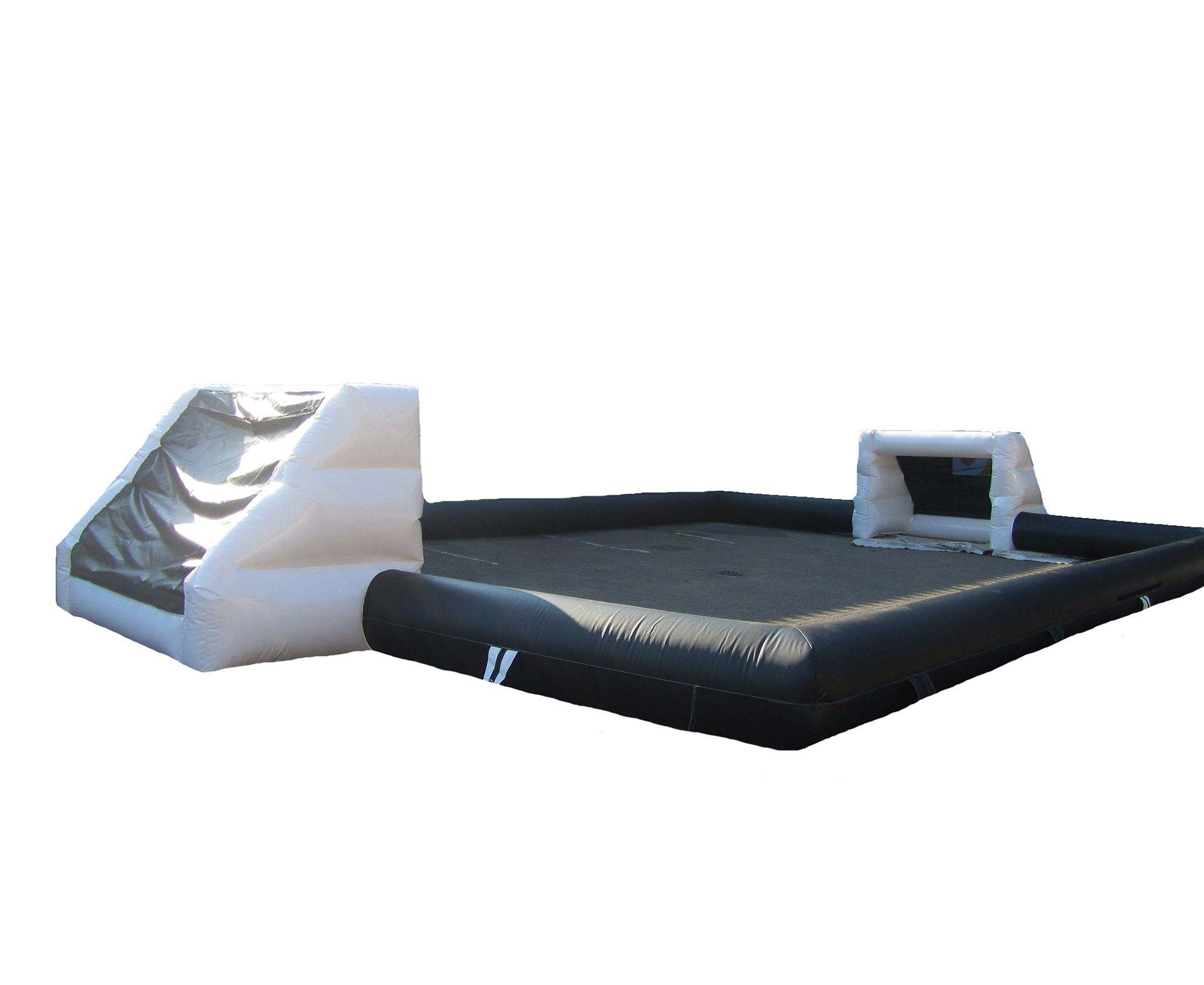 Inflatable game black white human football table compressor