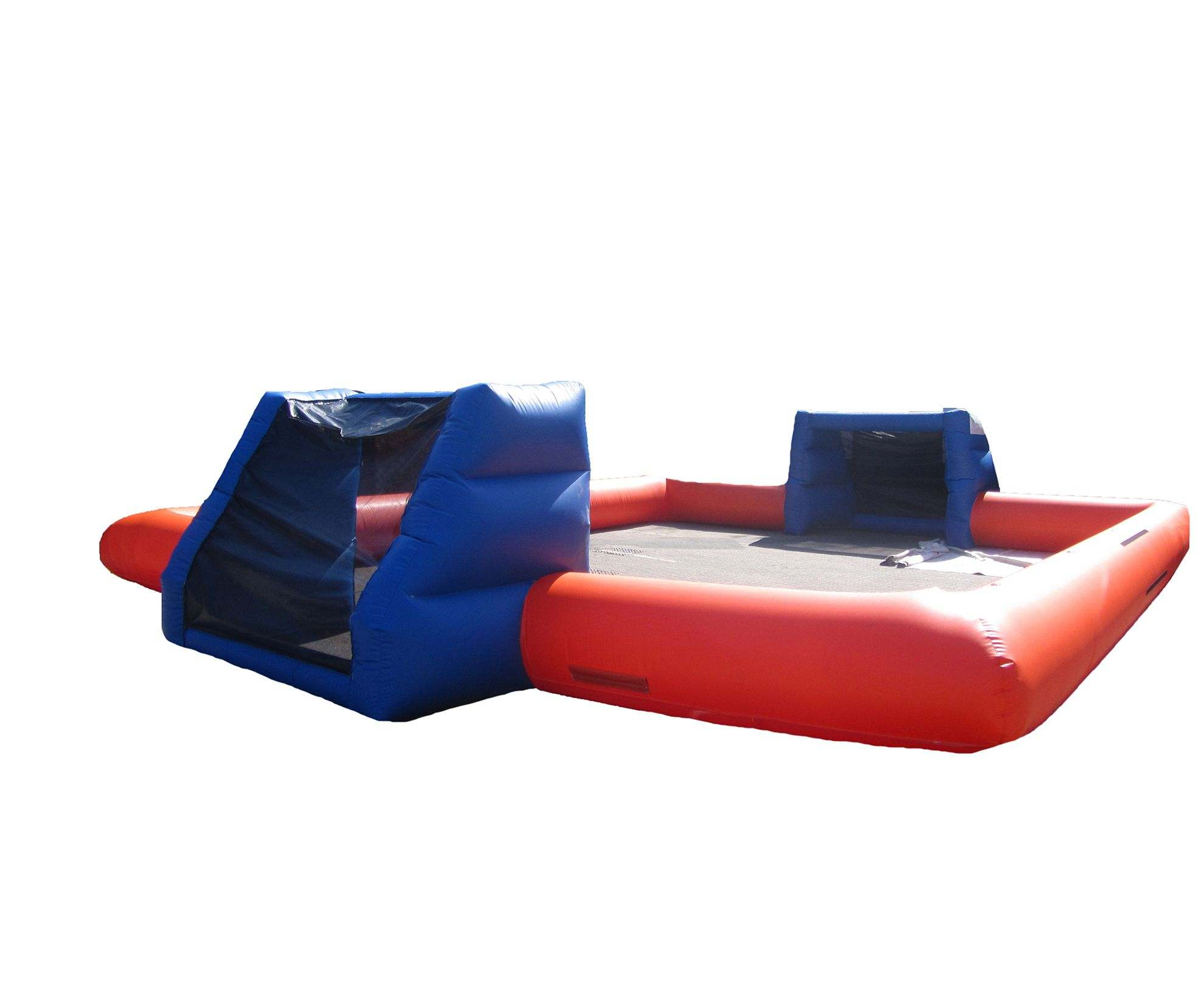 Inflatable game blue orange human football table compressor