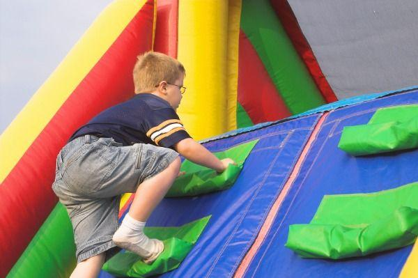 Bouncy Obstacle Course Slide