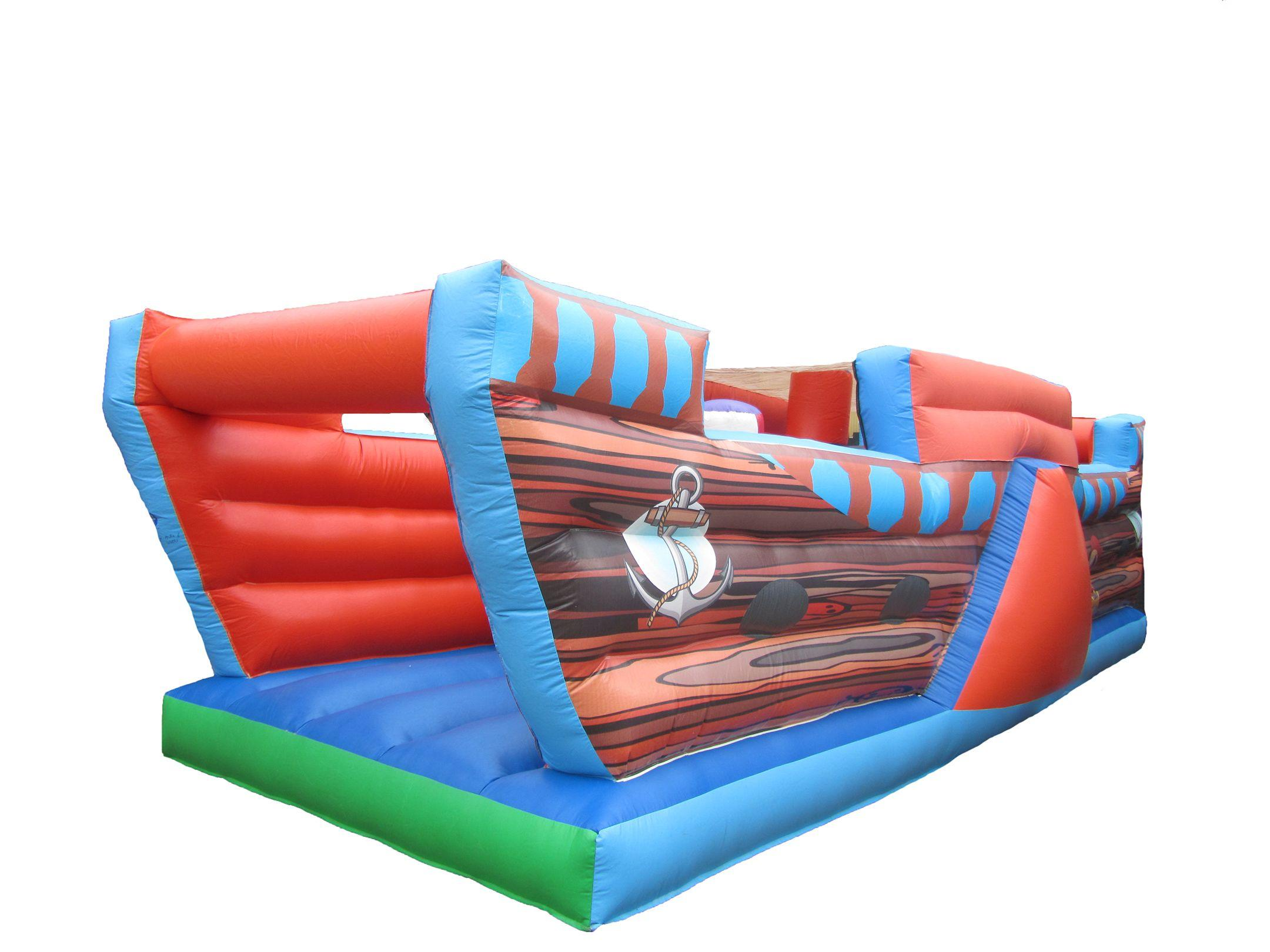 Inflatable pirate ship obstacle course