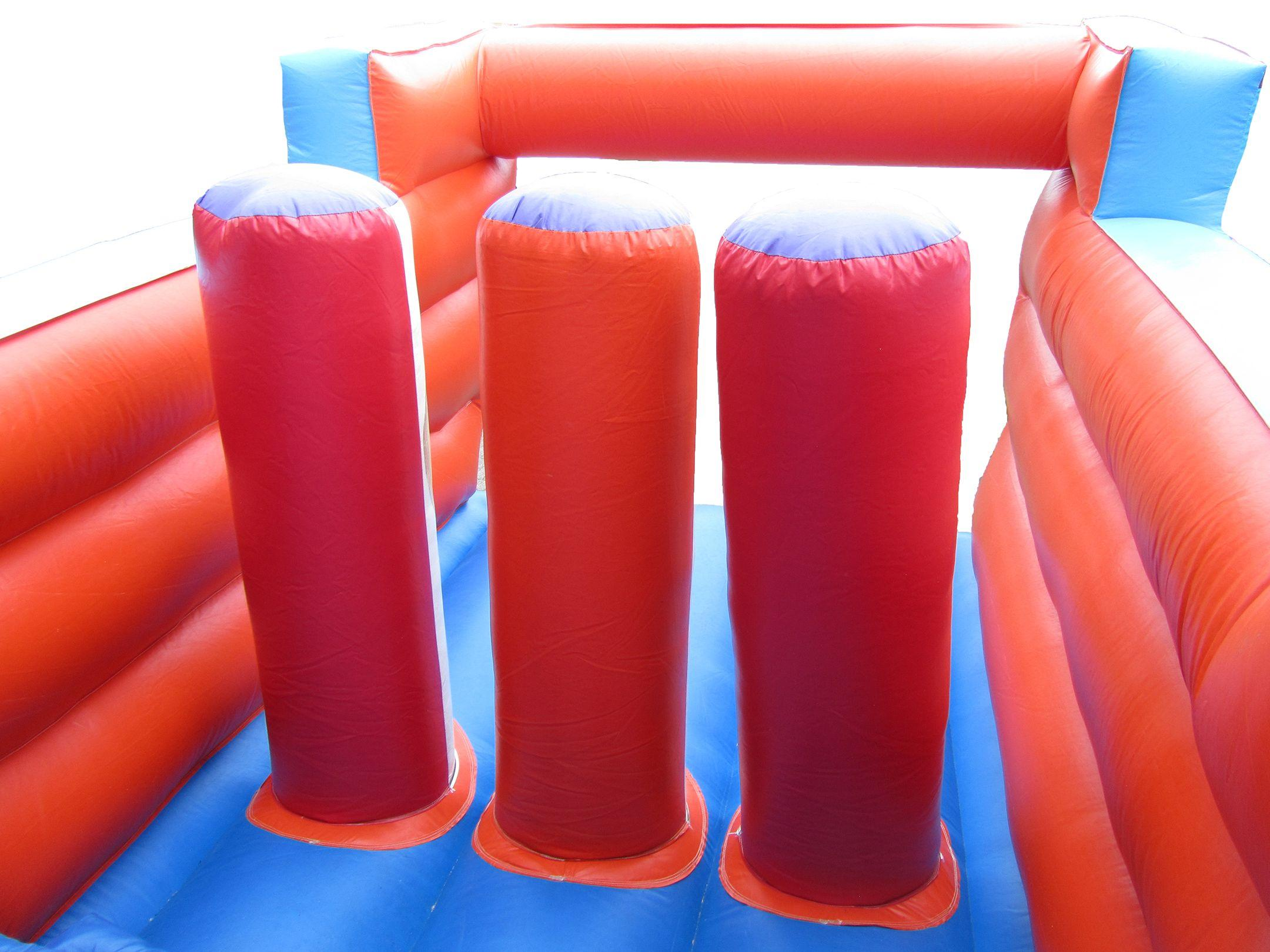 Inside Bouncy Obstacle Course