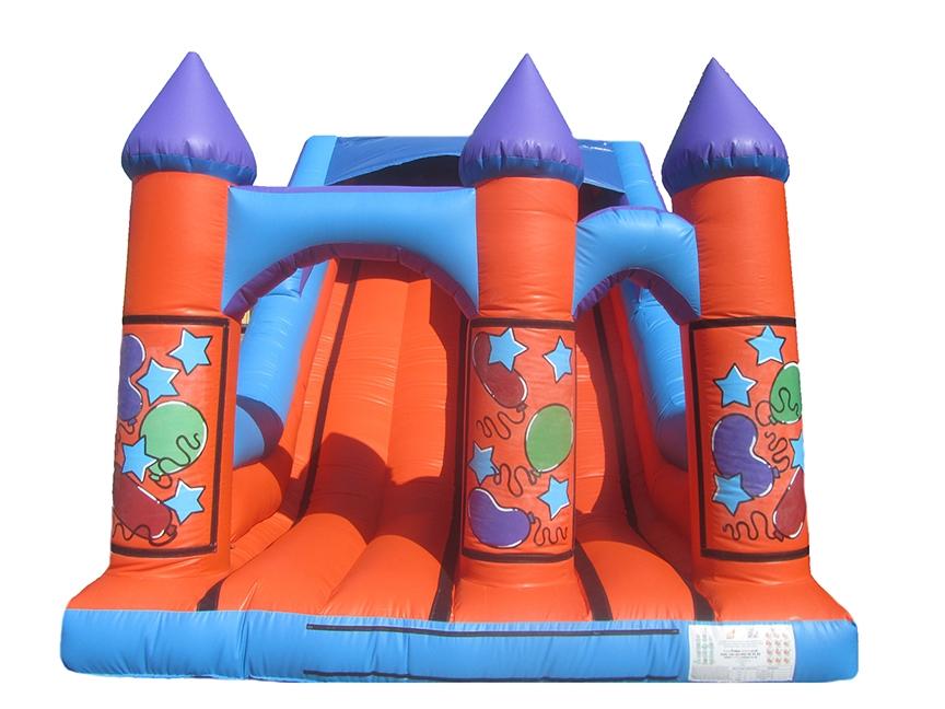 Inflatable-turret-party-slide-compressor