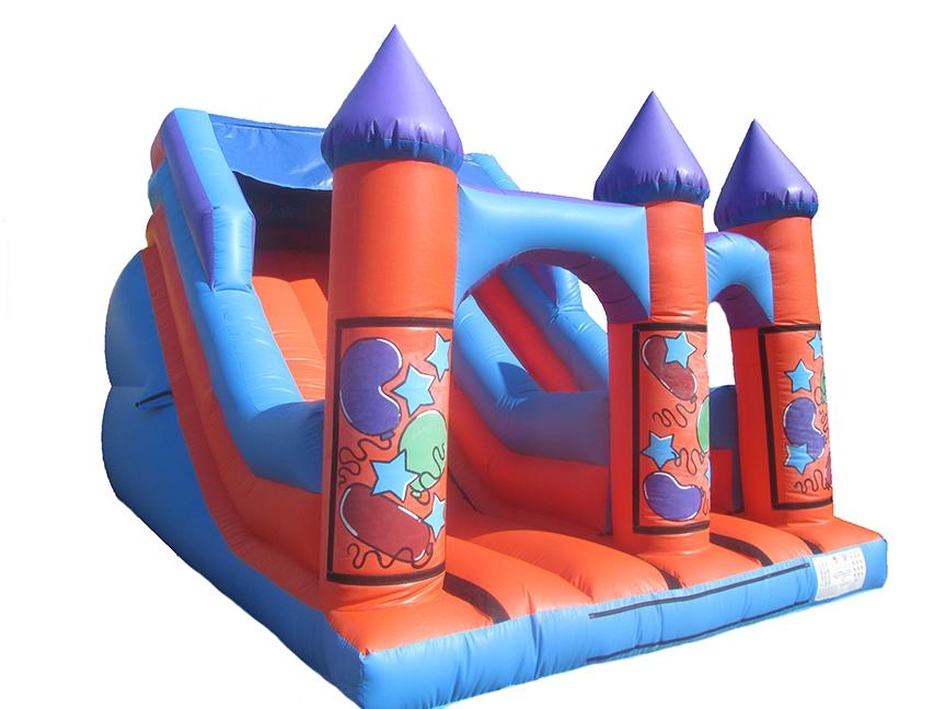 Inflatable-turret-top-party-slide-compressor