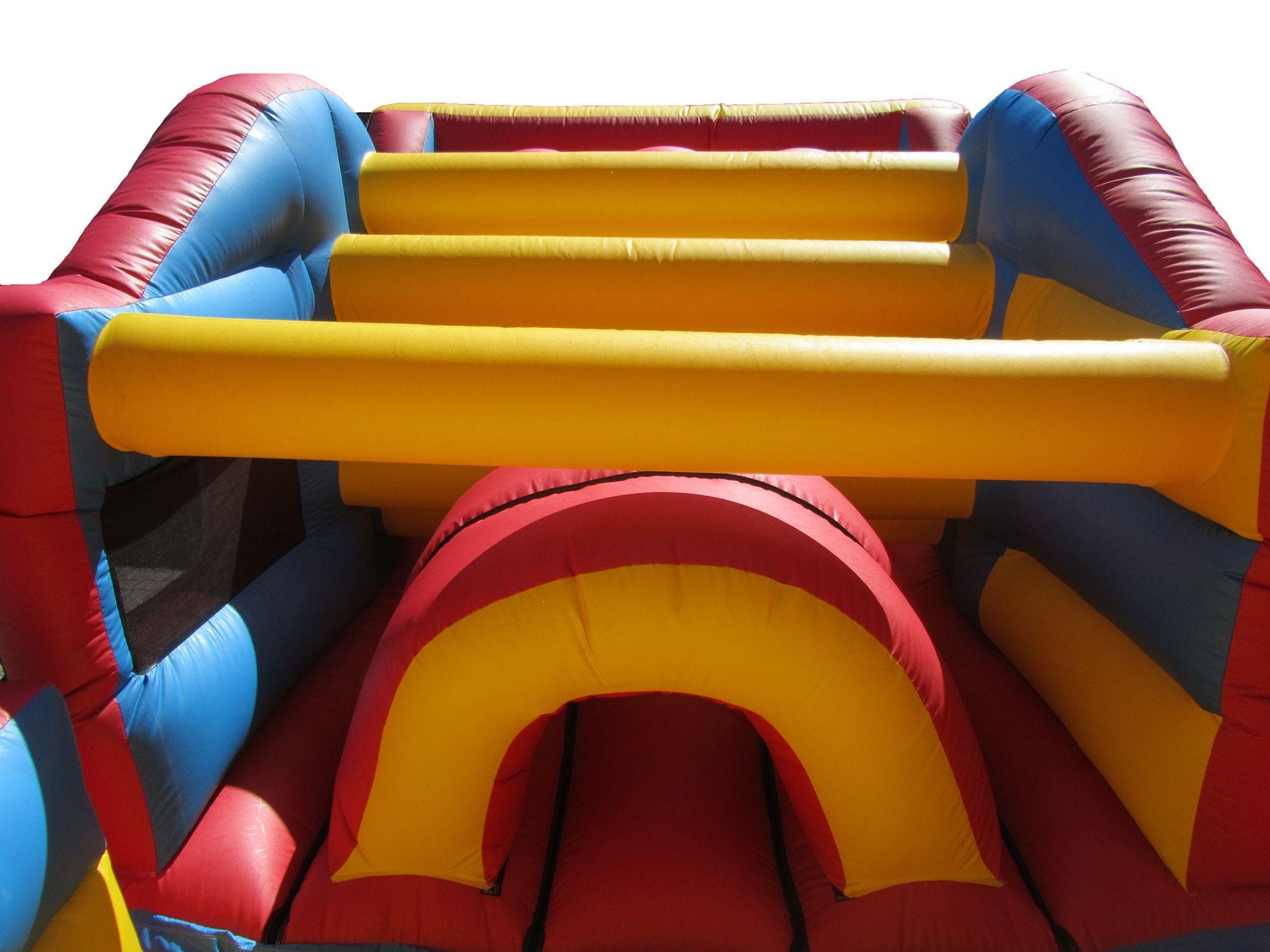 Inside Inflatable Obstacle Course