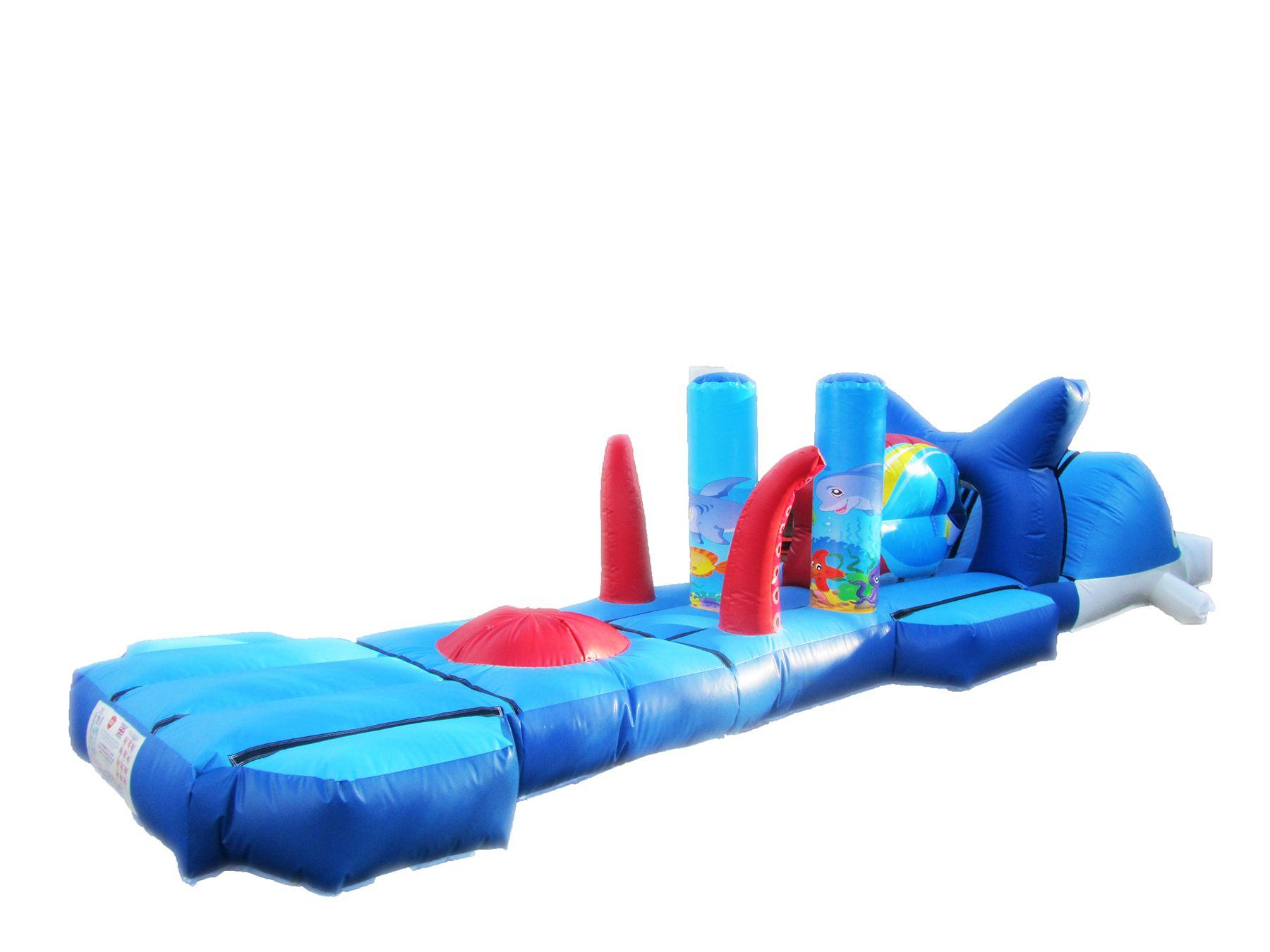 Inflatable water under the sea obstacle course 3 compressor