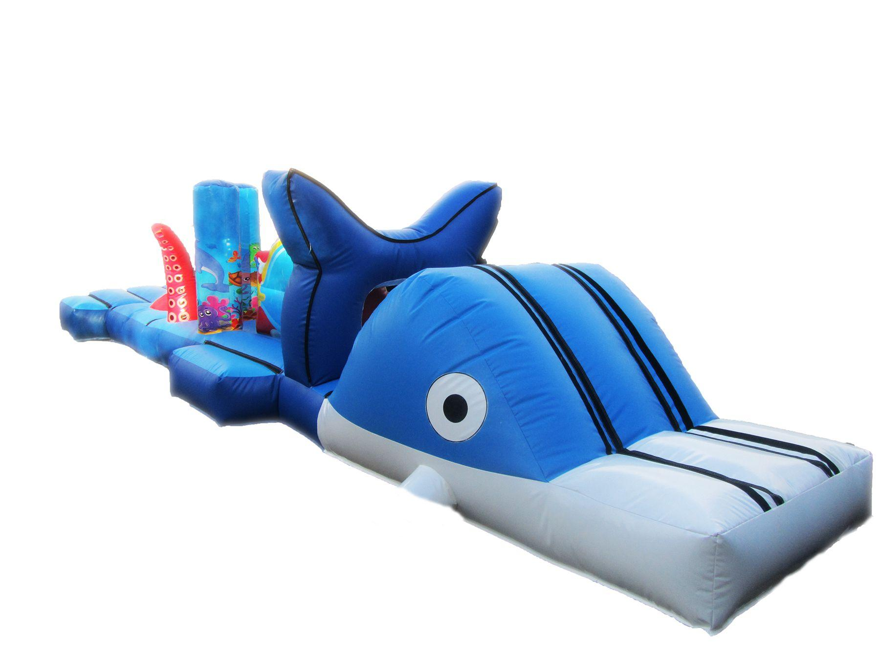 Inflatable water under the sea obstacle course 4 compressor