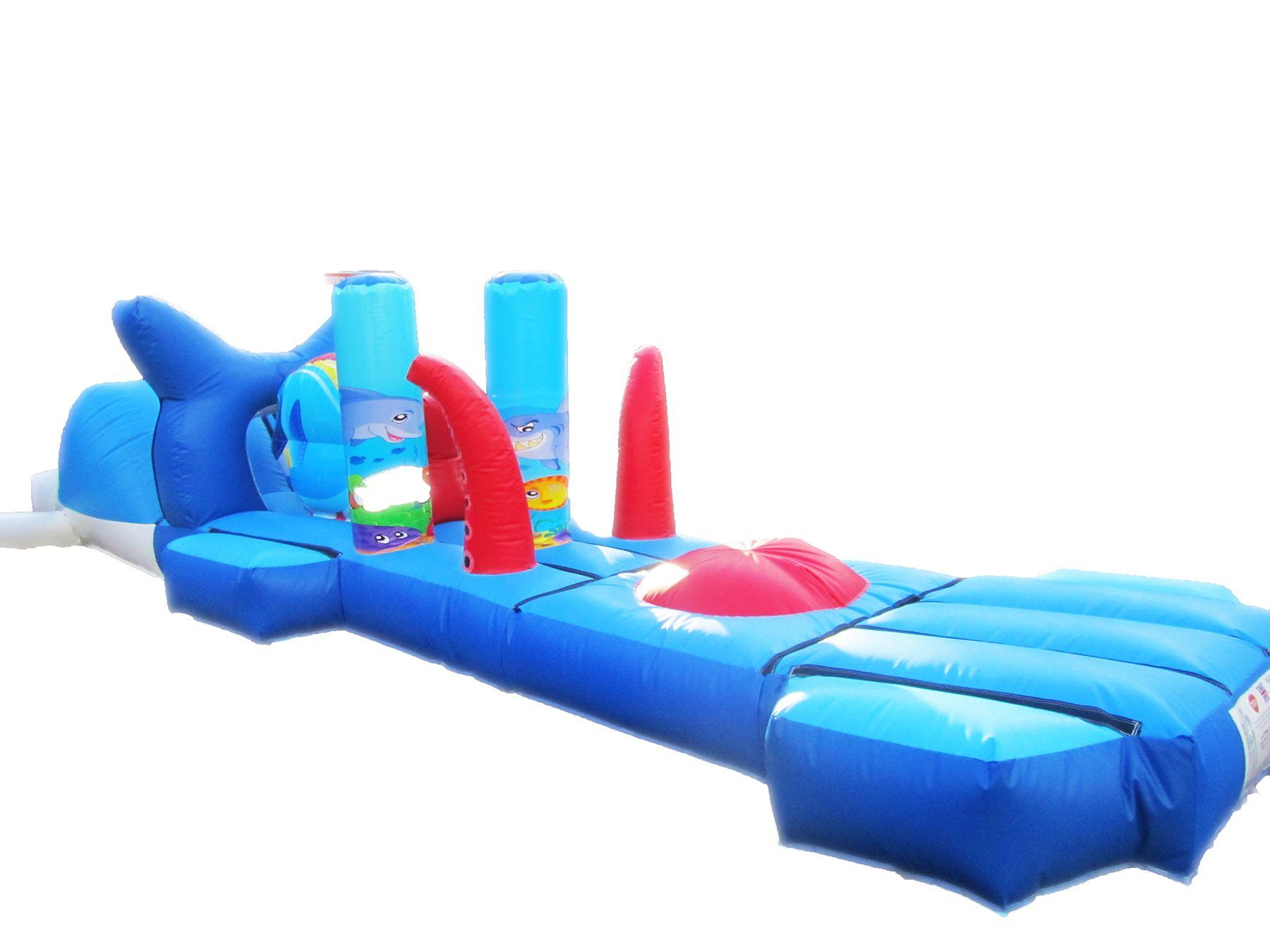 Inflatable water under the sea obstacle course compressor