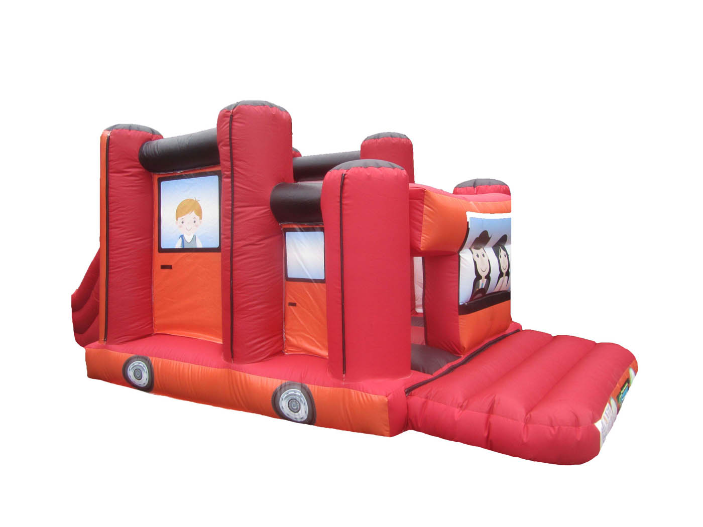 Inflatable Jeep Bouncy Castle with Slide