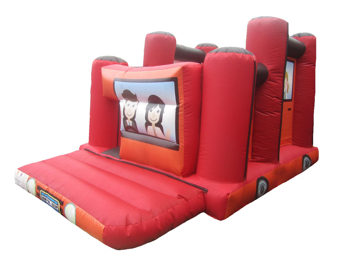 Jeep-ob-course-bouncy-castle-compressor
