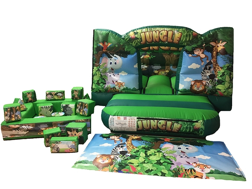 Jungle Soft Play Set with Toddler Bouncer