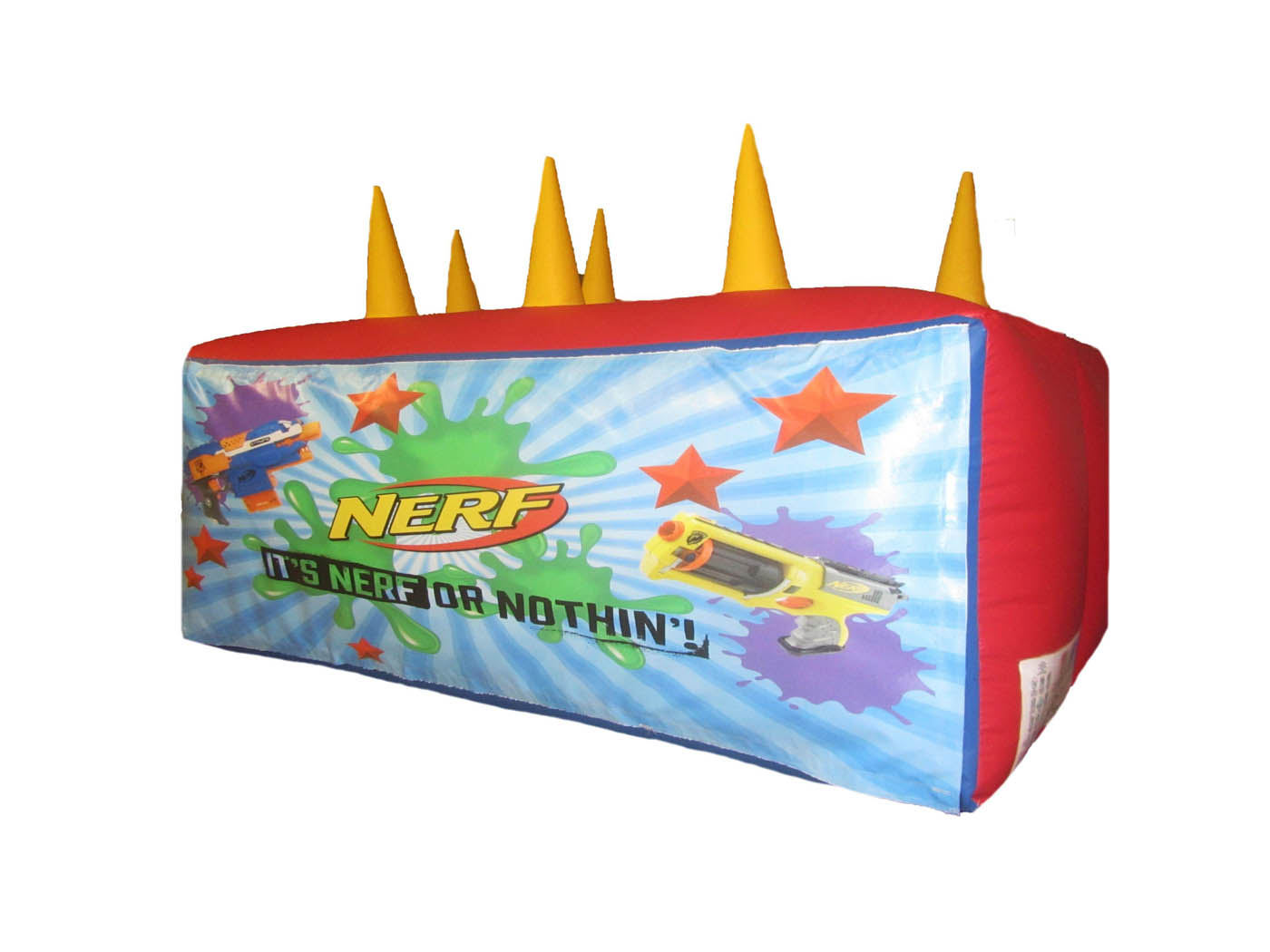 Nerf-target-inflatable-printed-velcro-compressor