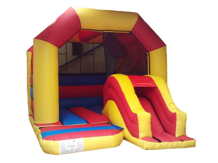 Plain Unisex Front Slide Combi Bouncy Castle
