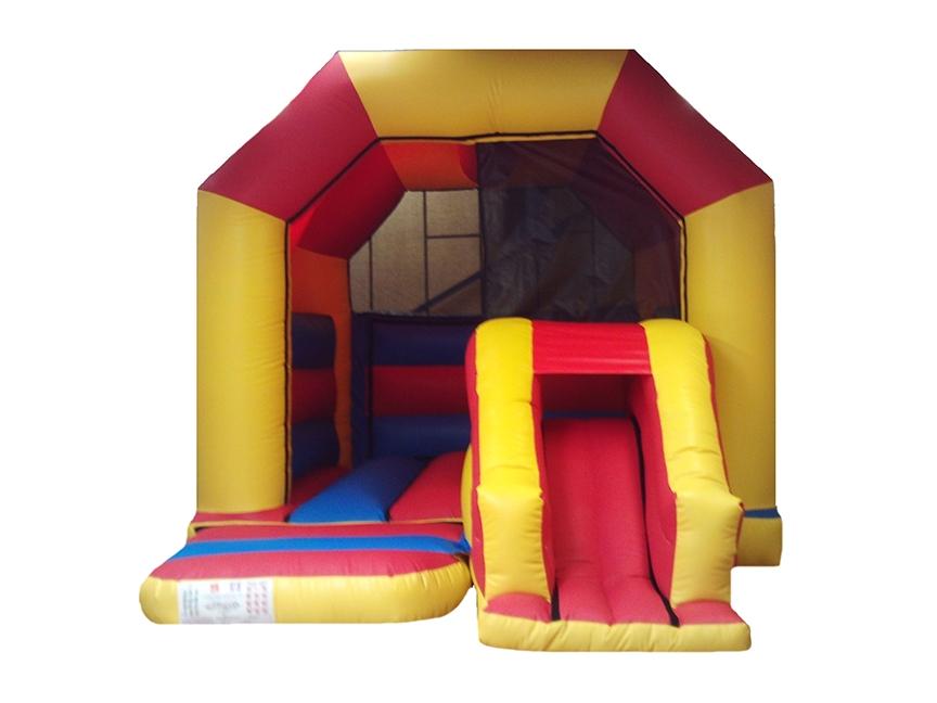 Plain Front Slide Combi Bouncy Castle