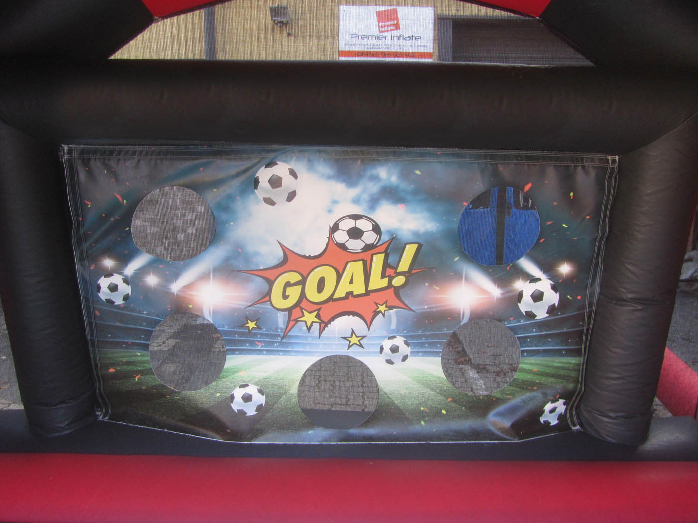 Vibrant Digitally Printed Artwork on Inflatable Penalty Shoot Out