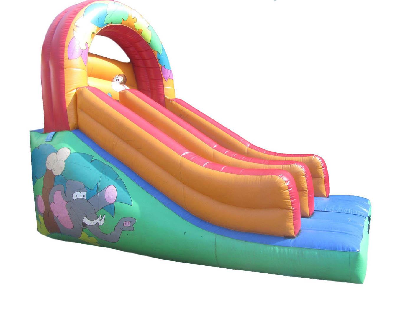 Repaired-animal-inflatable-platform-slide-compressor