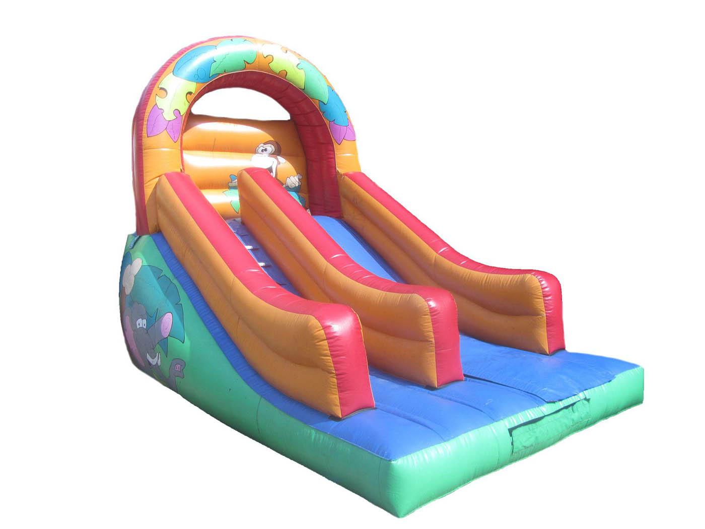 Repaired-inflatable-animal-platform-slide-compressor