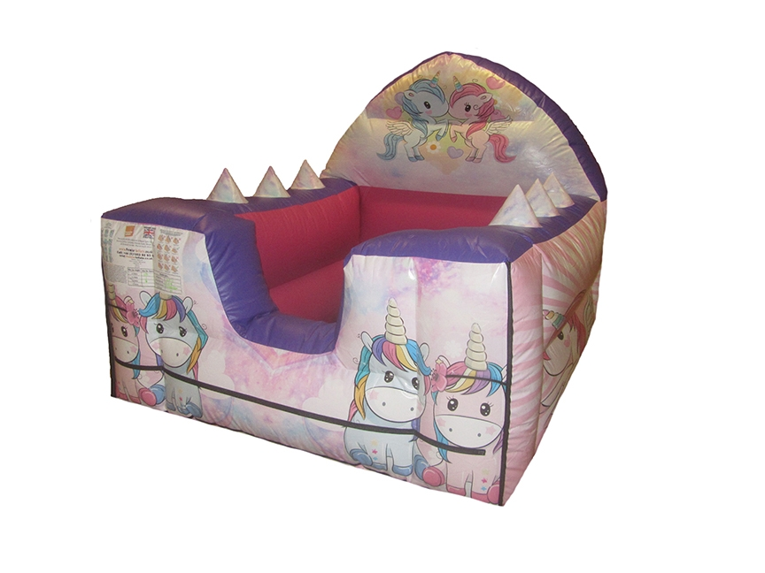 Unicorn Themed Inflatable Ball Pond with Air Ball Challenge