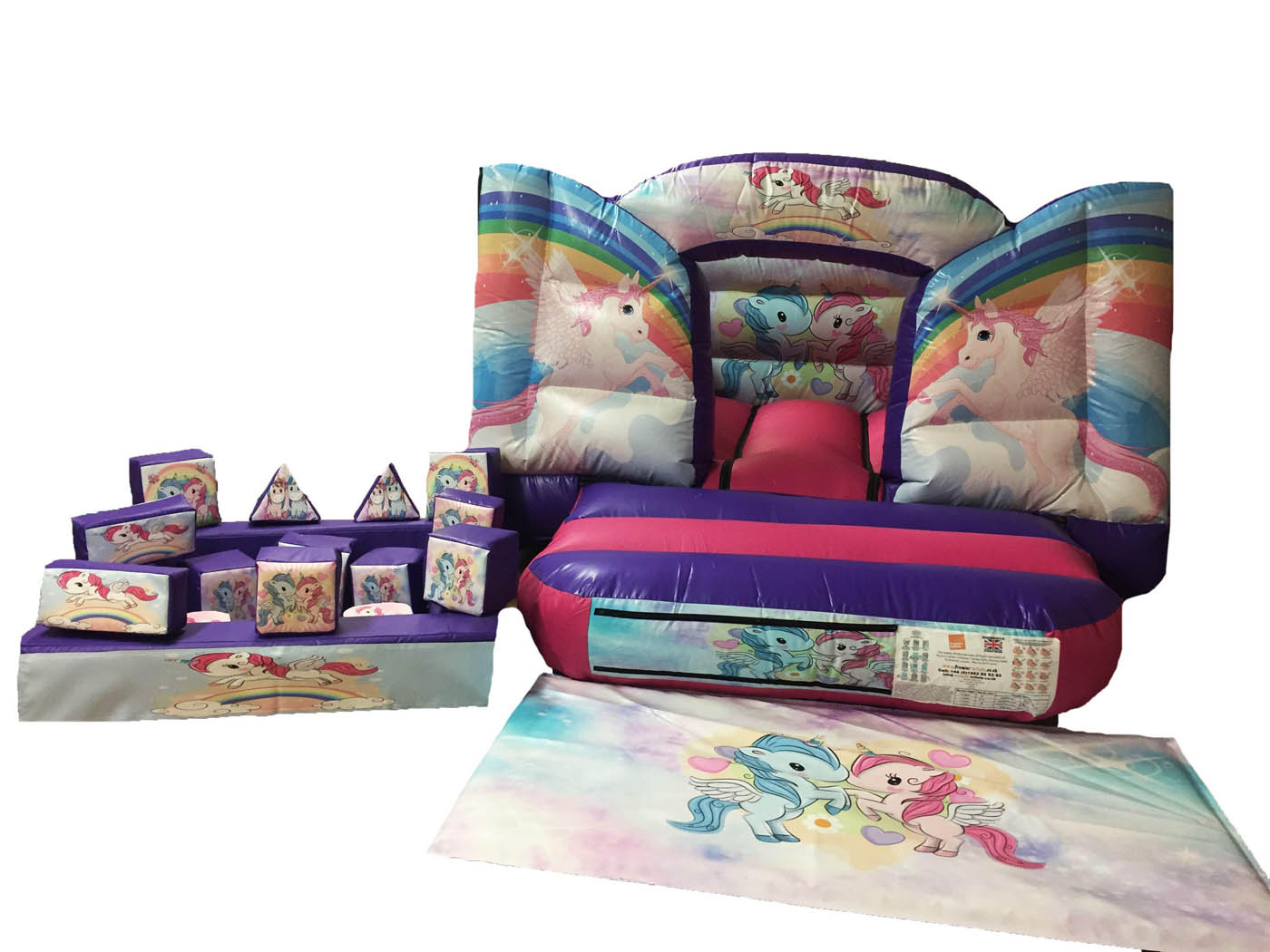 Unicorn Themed Soft Play Set with Toddler Ball Pond